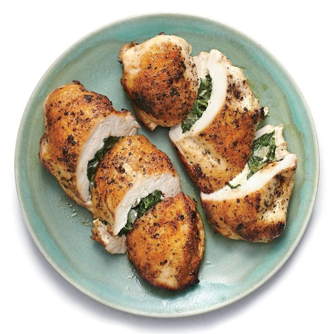 Middle Eastern: Spinach and Feta Stuffed Chicken Breasts