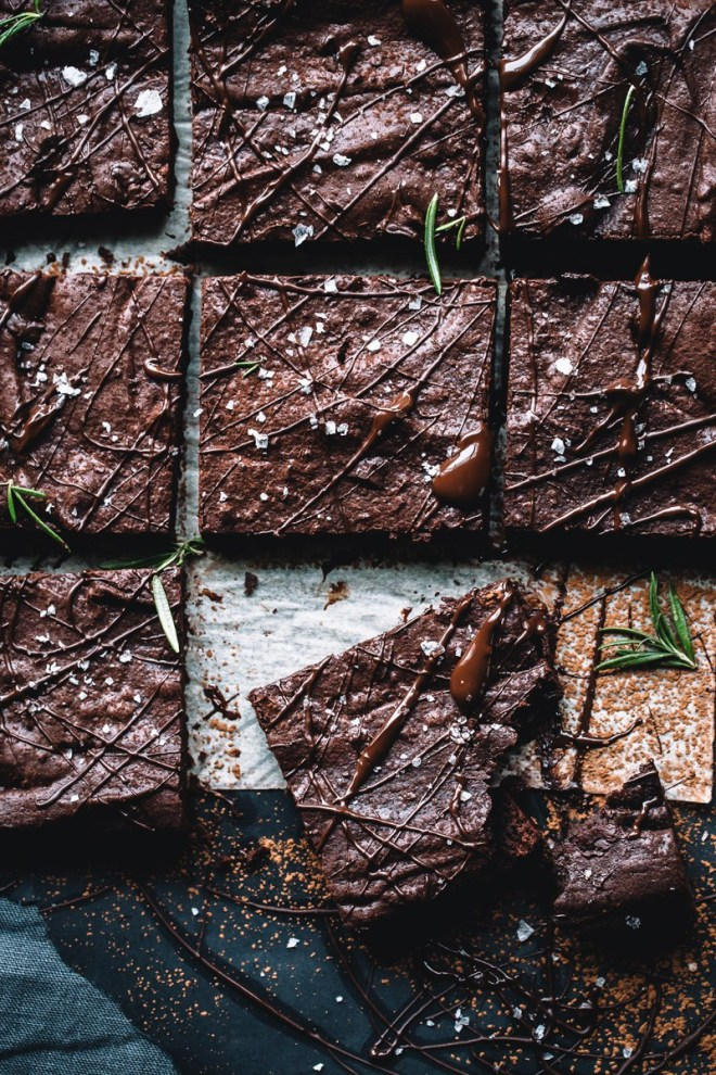 Spiced Rosemary Sea Salt Brownies