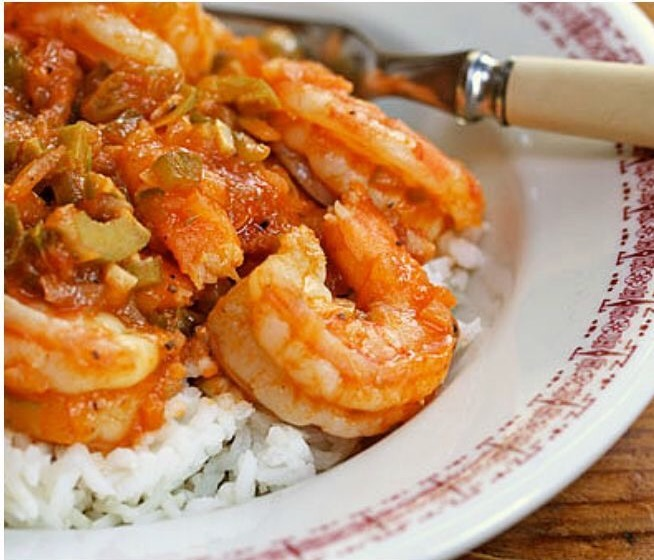 Shrimp Picadillo